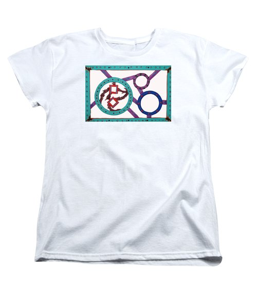 Women's T-Shirt (Standard Cut) featuring the mixed media Circle Time by Robert Margetts