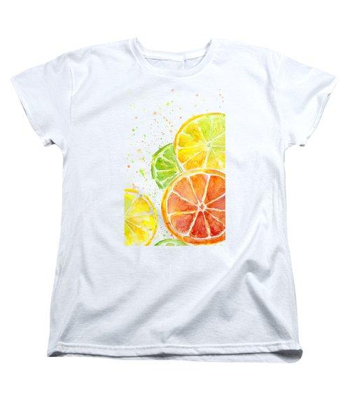 Citrus Fruit Watercolor Women's T-Shirt (Standard Cut)