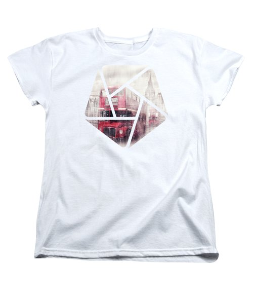 City-art London Westminster Collage II Women's T-Shirt (Standard Cut) by Melanie Viola