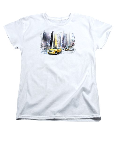 City-art Times Square II Women's T-Shirt (Standard Cut) by Melanie Viola