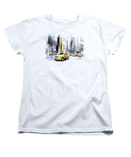 City-art Times Square II Women's T-Shirt (Standard Cut) by Melanie Viola