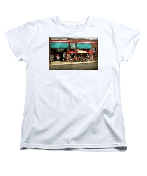 Women's T-Shirt (Standard Cut) featuring the photograph City - Edison Nj - Pino's Basket Shop by Mike Savad
