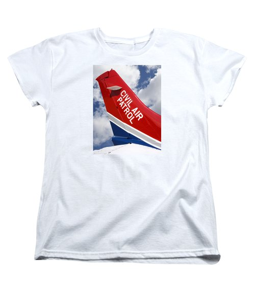 Civil Air Patrol Aircraft Women's T-Shirt (Standard Cut) by Phil Cardamone