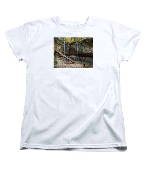 Women's T-Shirt (Standard Cut) featuring the photograph Clark Creek Waterfall No. 1 by Andy Crawford