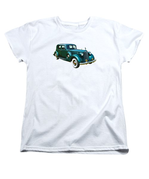 Classic Green Packard Luxury Automobile Women's T-Shirt (Standard Cut) by Keith Webber Jr