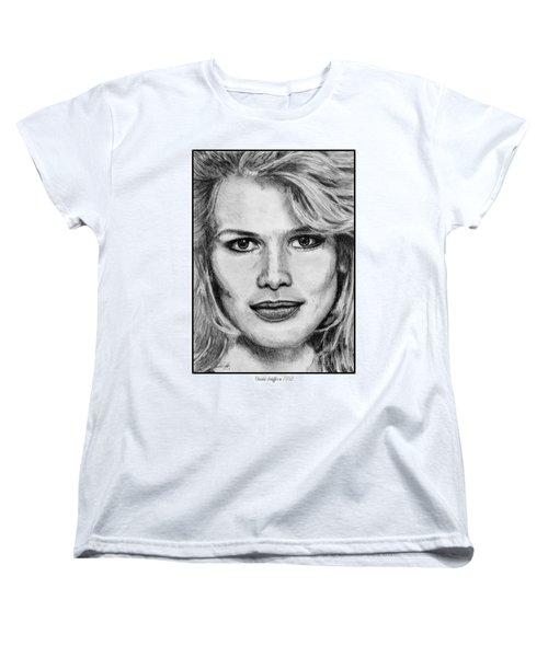 Claudia Schiffer In 1992 Women's T-Shirt (Standard Cut) by J McCombie