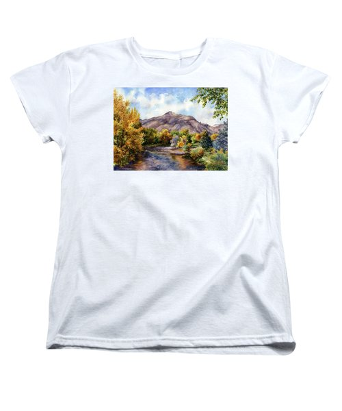 Women's T-Shirt (Standard Cut) featuring the painting Clear Creek by Anne Gifford