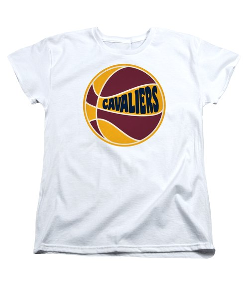 Women's T-Shirt (Standard Cut) featuring the photograph Cleveland Cavaliers Retro Shirt by Joe Hamilton