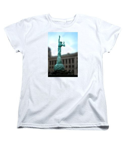 Cleveland War Memorial Fountain Women's T-Shirt (Standard Cut) by Terri Harper