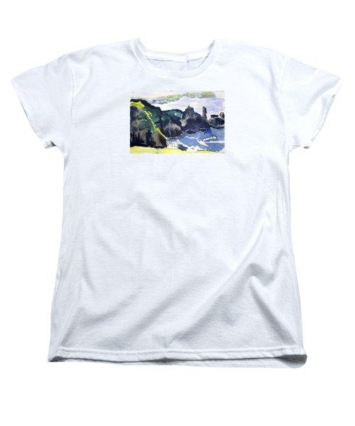 Cliffs In The Sea Women's T-Shirt (Standard Cut)