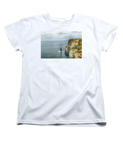 Women's T-Shirt (Standard Cut) featuring the photograph Cliffs Of Moher 3 by Marie Leslie