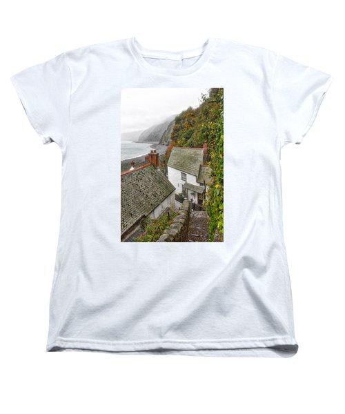 Clovelly Coastline Women's T-Shirt (Standard Cut) by RKAB Works
