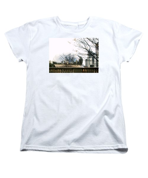 Cloud Gate - 1 Women's T-Shirt (Standard Cut) by Ely Arsha