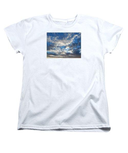 Clouds #4049 Women's T-Shirt (Standard Cut) by Barbara Tristan