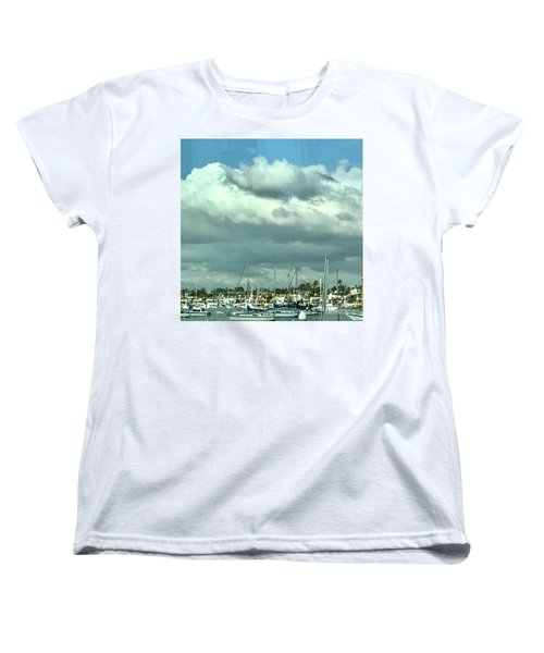Clouds On The Bay Women's T-Shirt (Standard Cut) by Kim Nelson