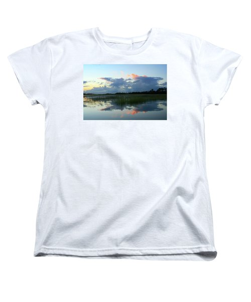 Women's T-Shirt (Standard Cut) featuring the photograph Clouds Over Marsh by Patricia Schaefer