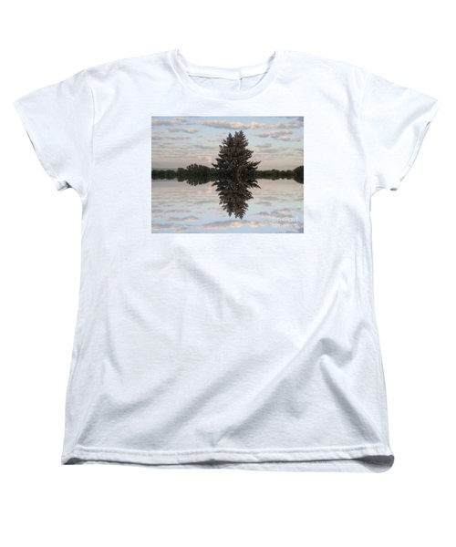 Clouds Up And Down Women's T-Shirt (Standard Cut) by Christina Verdgeline