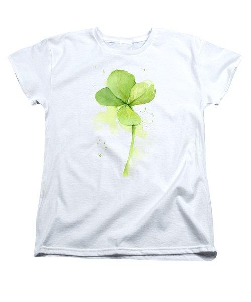 Clover Watercolor Women's T-Shirt (Standard Fit)