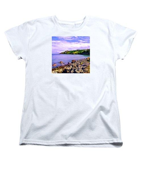 Rocky Coast At Howth Women's T-Shirt (Standard Cut) by Judi Bagwell