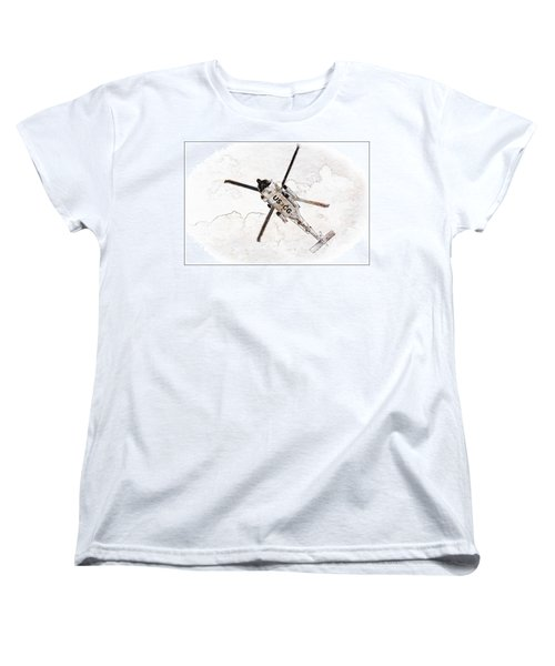 Women's T-Shirt (Standard Cut) featuring the photograph Coast Guard Helicopter by Aaron Berg