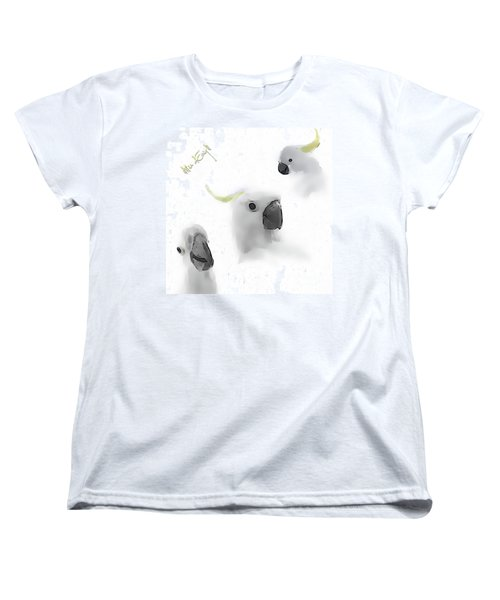 Cockatoos Women's T-Shirt (Standard Cut) by Maria Astedt