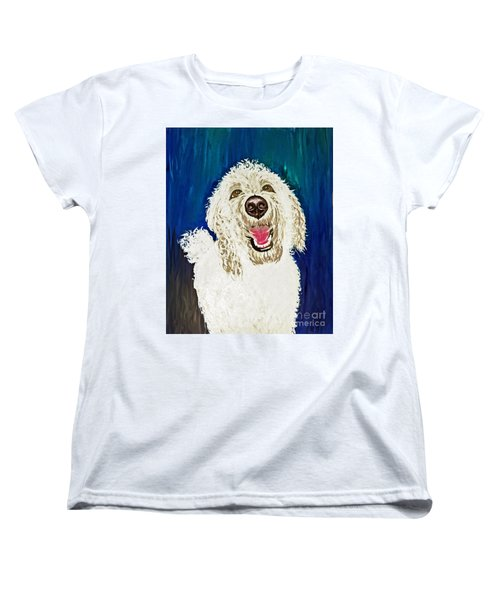 Women's T-Shirt (Standard Cut) featuring the painting Coco  by Ania M Milo