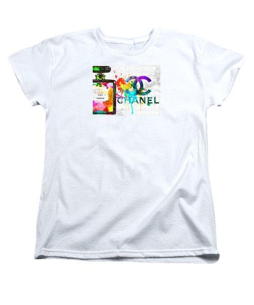 Coco Chanel No. 5 Grunge Women's T-Shirt (Standard Cut) by Daniel Janda