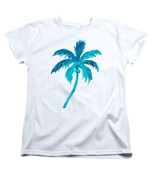 Coconut Palm Tree Women's T-Shirt (Standard Cut) by Jan Matson