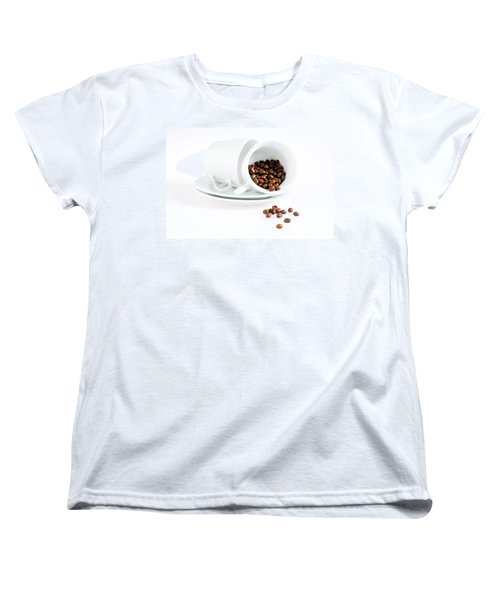 Coffee Cups And Coffee Beans  Women's T-Shirt (Standard Cut) by Ulrich Schade