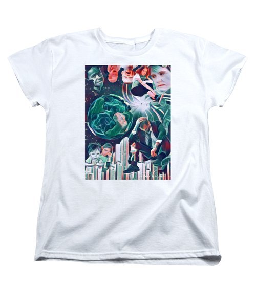 Cognitive Dissonance Women's T-Shirt (Standard Cut) by Vennie Kocsis