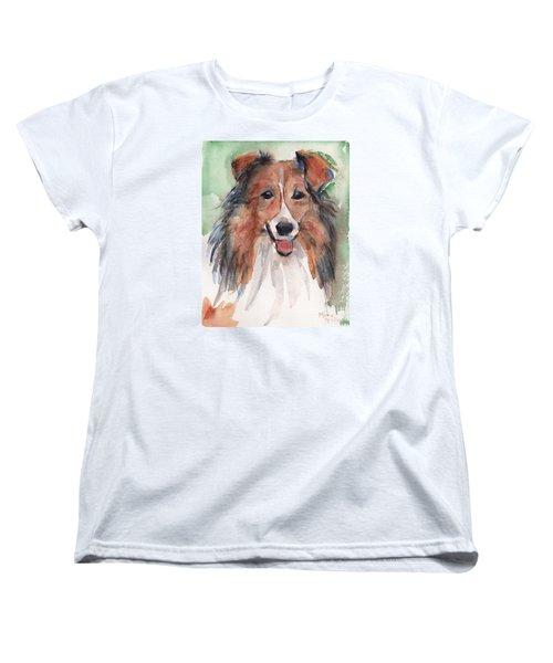 Collie, Shetland Sheepdog Women's T-Shirt (Standard Cut) by Maria's Watercolor