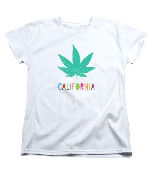 Colorful California Cannabis- Art By Linda Woods Women's T-Shirt (Standard Fit)
