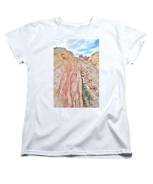 Colorful Crest In Valley Of Fire Women's T-Shirt (Standard Cut) by Ray Mathis