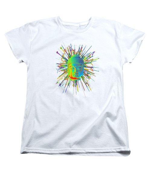 colorful Korean sparkle Women's T-Shirt (Standard Cut) by Terrell Kaucher