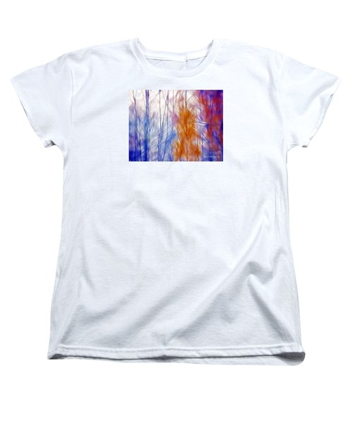Colorful Misty Forest  Women's T-Shirt (Standard Cut) by Odon Czintos