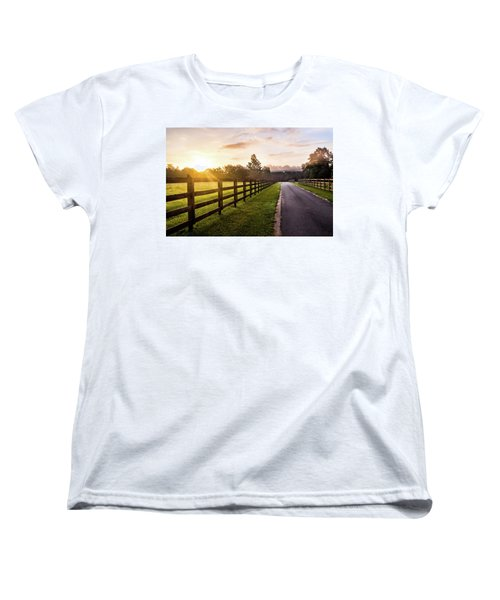 Women's T-Shirt (Standard Cut) featuring the photograph Colorful Palette At Sunrise by Shelby Young