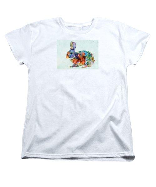 Colorful Rabbit Art Women's T-Shirt (Standard Cut) by Olga Hamilton