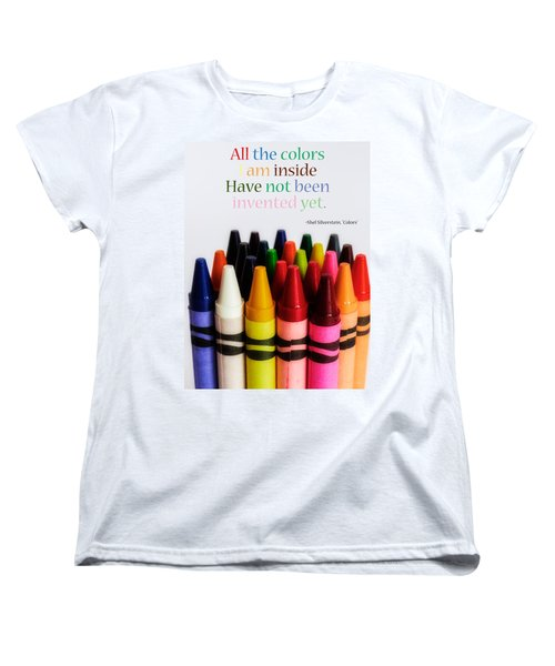 Colors Of Me Women's T-Shirt (Standard Cut) by Julia Wilcox