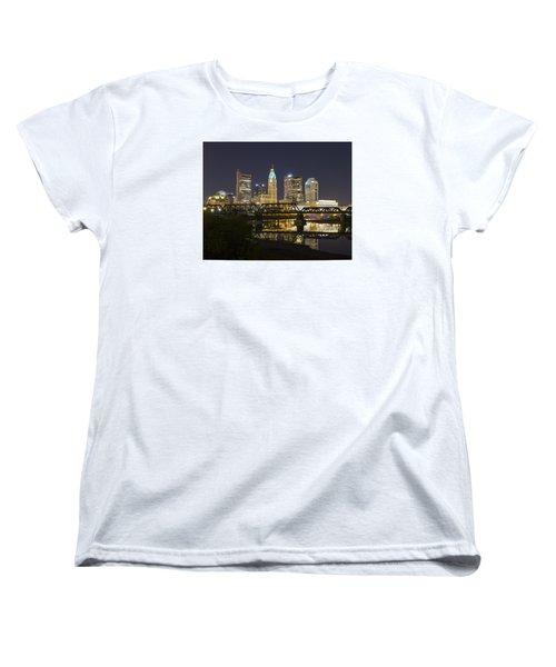 Women's T-Shirt (Standard Cut) featuring the photograph Columbus Skyline 2 by Alan Raasch