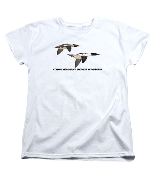 Common Mergansers  Isolated 2014-1 Women's T-Shirt (Standard Cut) by Thomas Young
