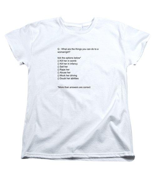 Conceptual 2d Mcq Girl Women's T-Shirt (Standard Cut) by Keshava Shukla
