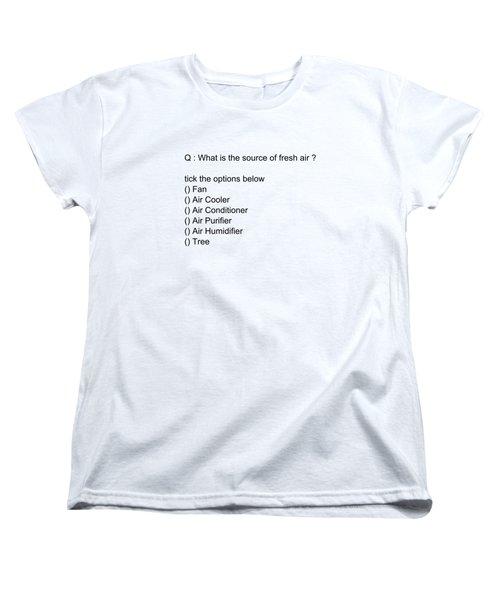 Conceptual 2d Mcq Tree Women's T-Shirt (Standard Cut) by Keshava Shukla