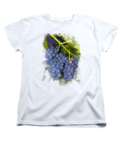 Concord Grape Women's T-Shirt (Standard Cut) by Ivana Westin