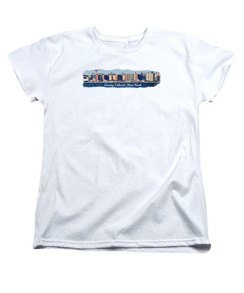 Coney Island Ny  Women's T-Shirt (Standard Cut) by Lilliana Mendez