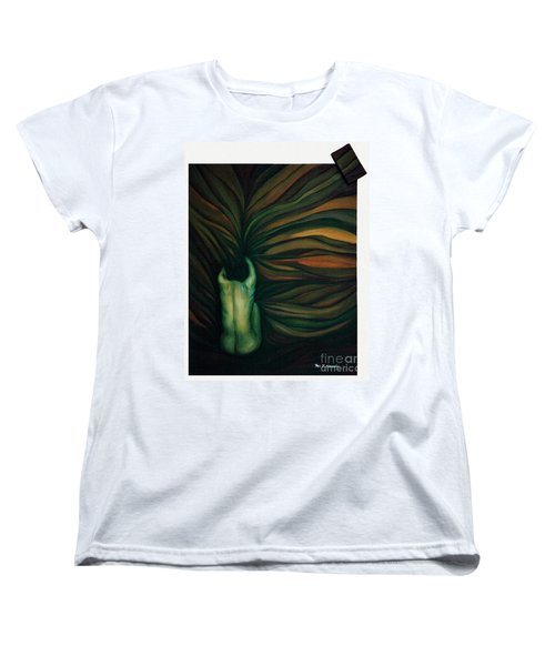 Women's T-Shirt (Standard Cut) featuring the painting Confused by Fei A