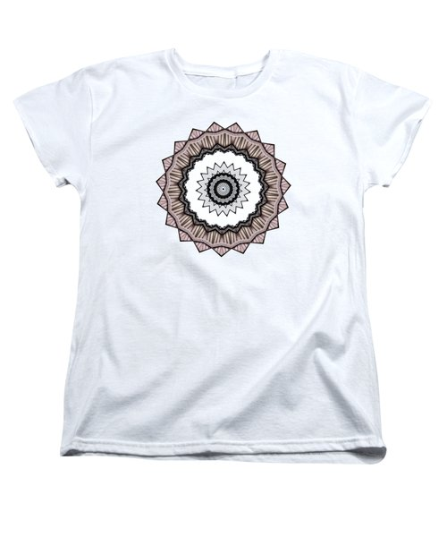 Construction Mandala By Kaye Menner Women's T-Shirt (Standard Cut) by Kaye Menner