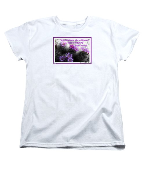 Women's T-Shirt (Standard Cut) featuring the digital art Contributes So Little by Holley Jacobs