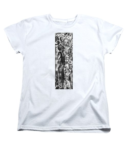 Women's T-Shirt (Standard Cut) featuring the painting Convenor by Carol Rashawnna Williams