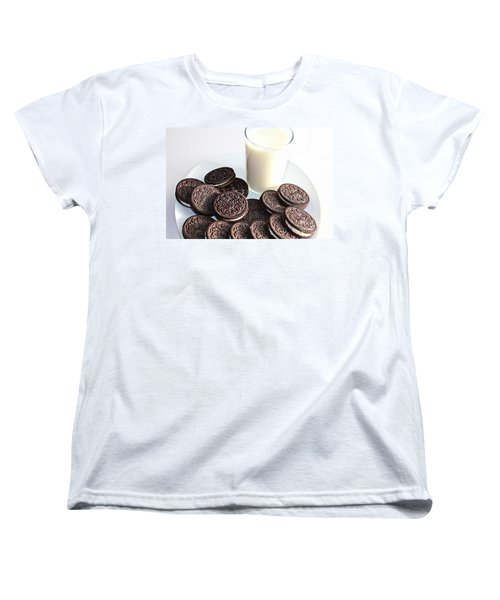 Cookies And Milk Women's T-Shirt (Standard Cut) by Barbara Griffin