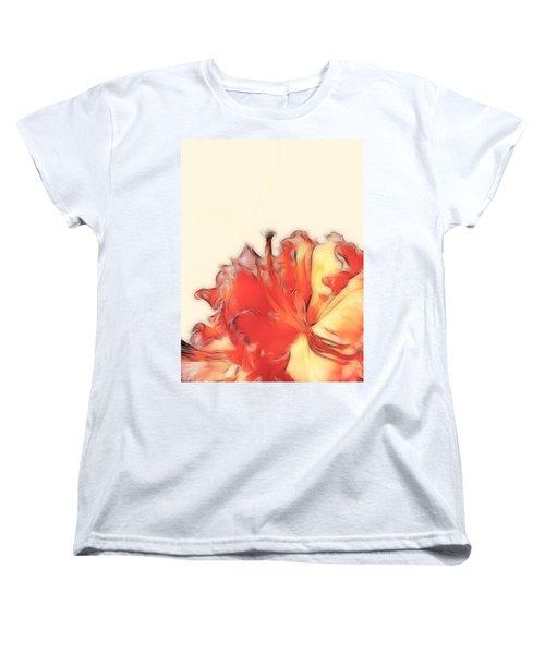 Coral Rhododendron Women's T-Shirt (Standard Cut) by Lynn Bolt
